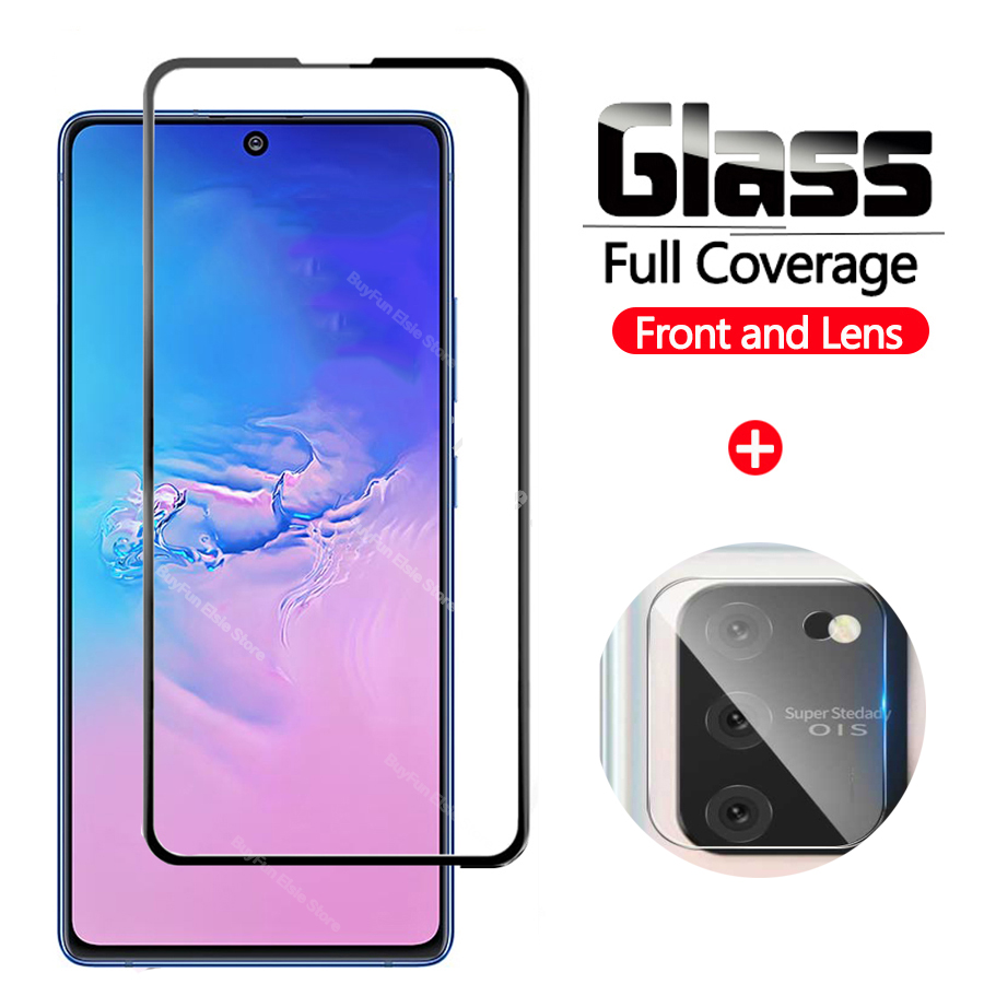2 In 1 Screen Protector Glass For Samsung Galaxy S10 Lite S10Lite Tempered Glas Samsun S 10 Light G770 Protective Glass Film