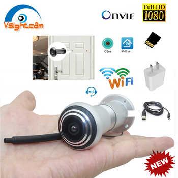 ICsee Wireless Door Eye Hole Security 1080P HD 1.66mm FishEye CCTV Network Mini Peephole Door Wifi Camera P2P Audio TF Card Slot - DISCOUNT ITEM  34 OFF Security & Protection