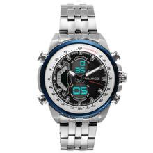 Мужские часы с двойным дисплеем роскошные спортивные цифровые