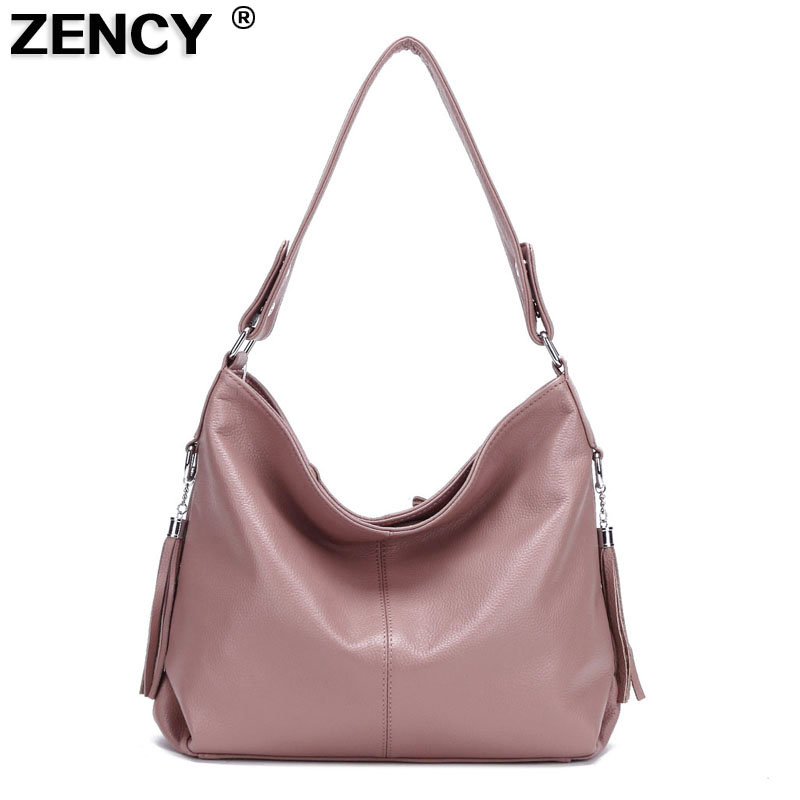 2020 New 100% Genuine Cow Leather Women Handbag First Layer Cowhide Top Handle Messenger Shoulder Bag Satchel White Silver Bags