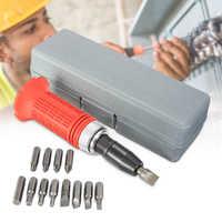 Multi-zweck Auswirkungen Schraubendreher-satz Fahrer Carbon Stahl Multi Bits Hammer Buchse Reparatur Kit Lagerung Box Schraubendreher Kopf Set
