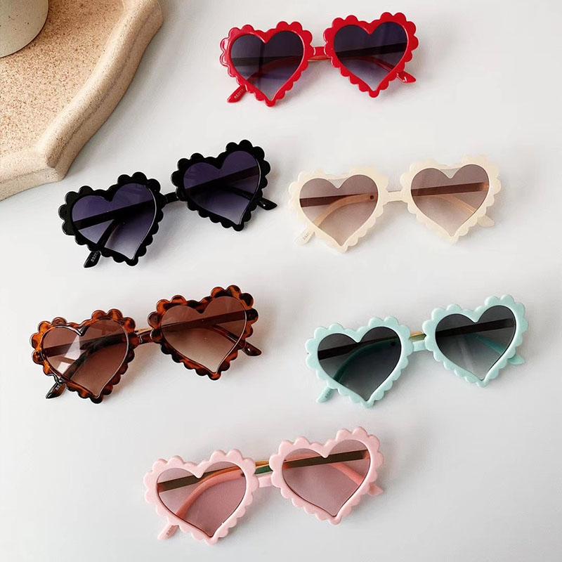 2021 New Kids Cartoon Heart Sunflower Fruit Rabbit Ears Sunglasses Girls Boy Children Outdoor Round Polarized UV400 Sun Glasses