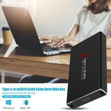 Mobile-Case-Box Msata SSD External-Enclosure Type-C USB3.1 Solid-State-Drive To And Data-Transfer