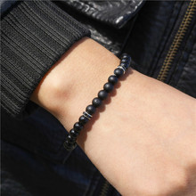 Fashion Men 6mm Bead Bracelets Classic Natural Matte Stone Beads Charm Handmade Bracelet & Bangles For Men Women Jewelry fashion men 6mm bead bracelets classic natural matte stone beads charm handmade bracelet