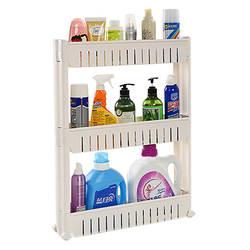 Три Слои Семья кухонный стеллаж шкив толстые Пластик холодильник Gap стеллаж для хранения Хранение Полка-Органайзер