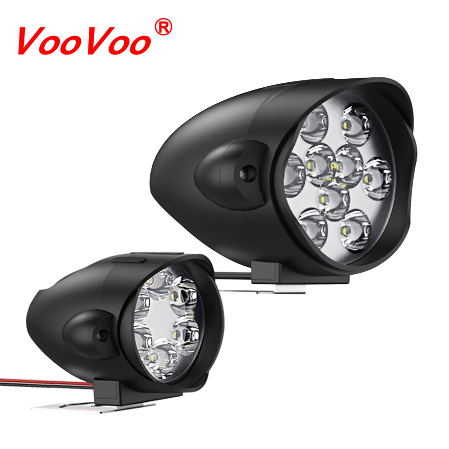 VooVoo LED phare Moto LED ampoules antibrouillard DRL Spot lumineux bricolage Scooter blanc blanc LED Farol barre de Moto lampe frontale title=