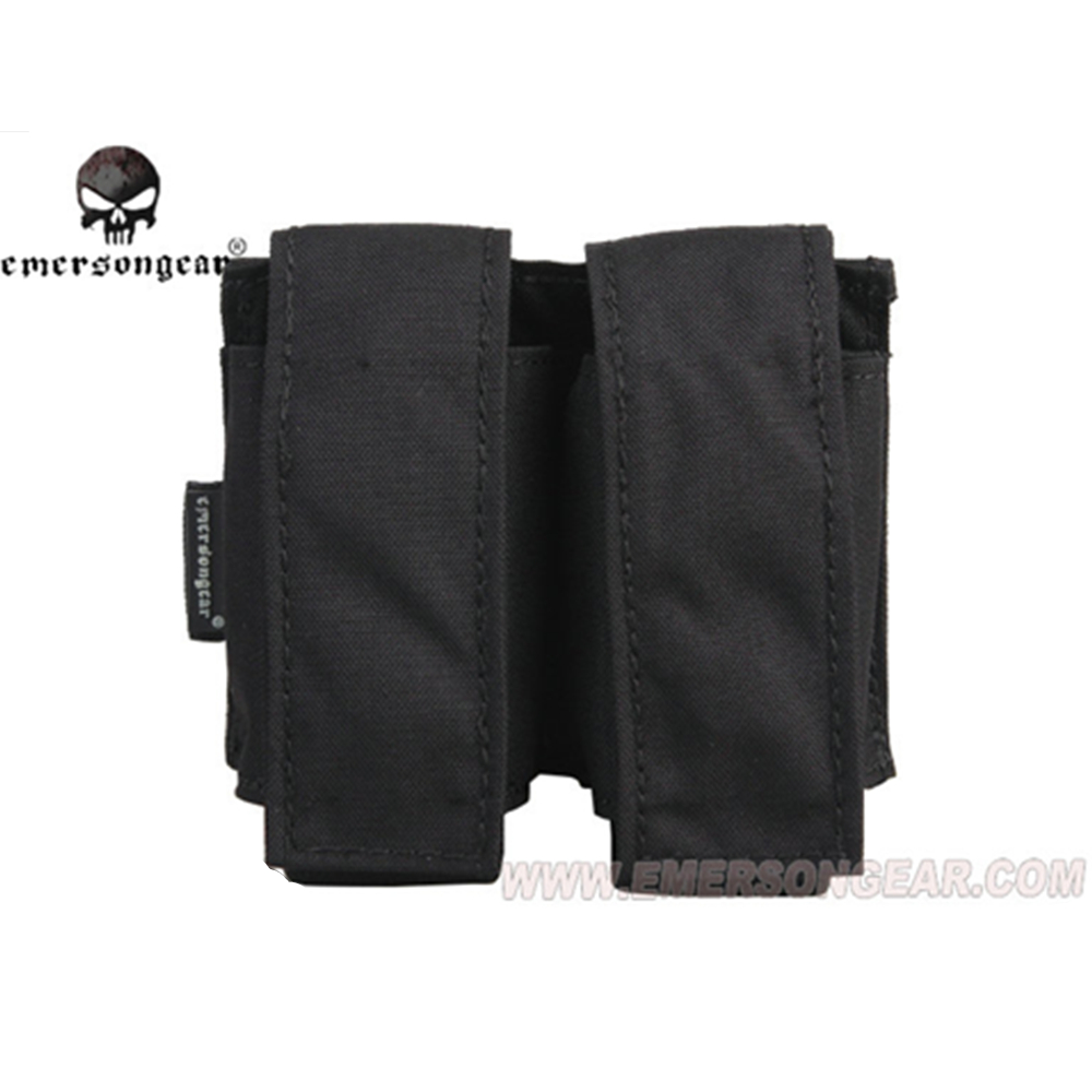 Image 2 - emersongear Emerson Tactical Double 40mm Grenade Pouch 9mm MOLLE Magazine Pouch Holder Carrier Ammo Bag airsoft pouch-in Pouches from Sports & Entertainment