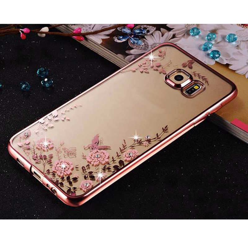 Sunjolly TPU Case for iPhone 11 Pro Max Rose Gold Bling Rhinestone ...