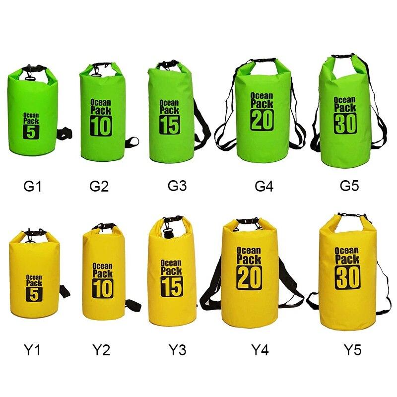 5L/10L/15L/20L/30L Kayaking Rafting Boating Swimming Floating Roll Top Sack Keeps Gear Dry Drifting Backpack Waterproof Dry Bag