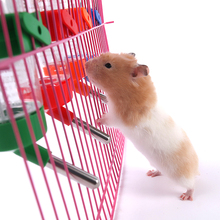 125ml Pet Cage Hanging Plastic Guinea Pig Squirrel Rabbit Hamster Water Drinking Bottle Dispenser Feeder