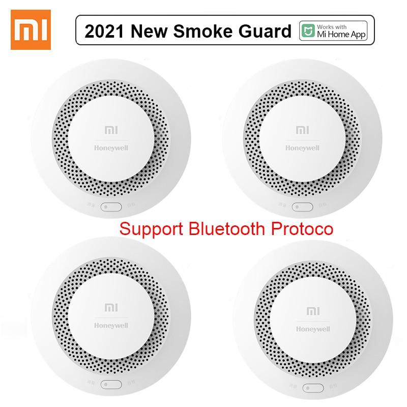 2021 Xiaomi MI Fire Alarm Detector Audible Visual Smoke Sensor Guard Remote MiHome APP Smart Control Fire Alarm Work gateway 3