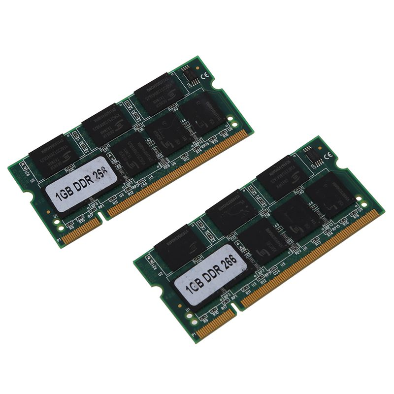 2x <font><b>1GB</b></font> 1G Memory RAM Memory <font><b>PC2100</b></font> <font><b>DDR</b></font> CL2.5 DIMM <font><b>266MHz</b></font> 200-pin for Notebook Laptop image