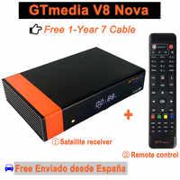 1 año de Europa 7 Cable genuino GTMedia V8 Nova Full HD DVB-S2 receptor satelital incorporado WIFI compatible con la llave powervus decodificador