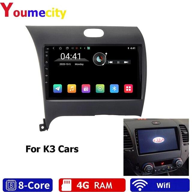 Tám Nhân/Android 9.0 Máy Nghe Nhạc Đa Phương Tiện DVD Gps Cho Xe Kia CERATO K3 FORTE Với Màn Hình Ips Đài Phát Thanh Wifi bluetooth RDS Headunit