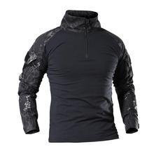 """Камуфляжный костюм """"Лягушонок"""" Мужская футболка военные рыболовные рубашки с длинными рукавами для прогулок, походов, альпинизма, треккинга, мужские футболки p-11"""