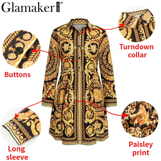 Baroqueness Vintage Gold Dress 3
