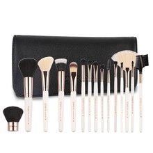 цена на Makeup Tools 15 Makeup Brush Nylon Hair Makeup Brush Set Professional Eye Shadow Foundation Eyebrow Lip Makeup Brush