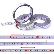 Régua de aço métrica autoadesiva mitra viu escala de fita de faixa de fita medida para t track roteador serra de mesa serra de fita ferramenta para trabalhar madeira