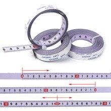 Selbstklebende Metric Stahl Lineal Gehrung Sah Skala Gehrung Track Maßband Für T track Router Tisch Sah Band kreissäge Werkzeug