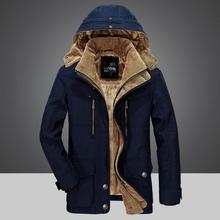 Thick warm winter Outwear male 2019 bomber jacket Slim and windproof parka men down cotton Plus velvet ArmyGreen