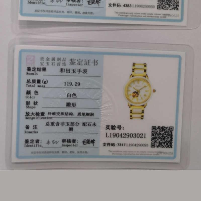Uomo di Lusso Ultra Bianco Giada Moda Orologio Meccanico Cava Orologi da Uomo Impermeabile Relogio Masculino Relojes Hombre 2020