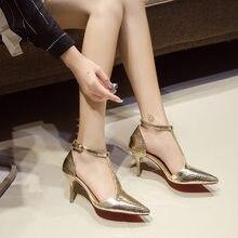Сандалии на высоком каблуке z400 женские тонкие модные пикантные