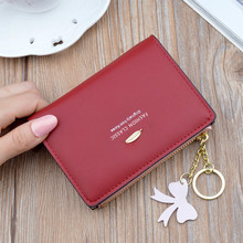 Fashion Leather Women's Wallet 2019 New Leaves Tassel Small