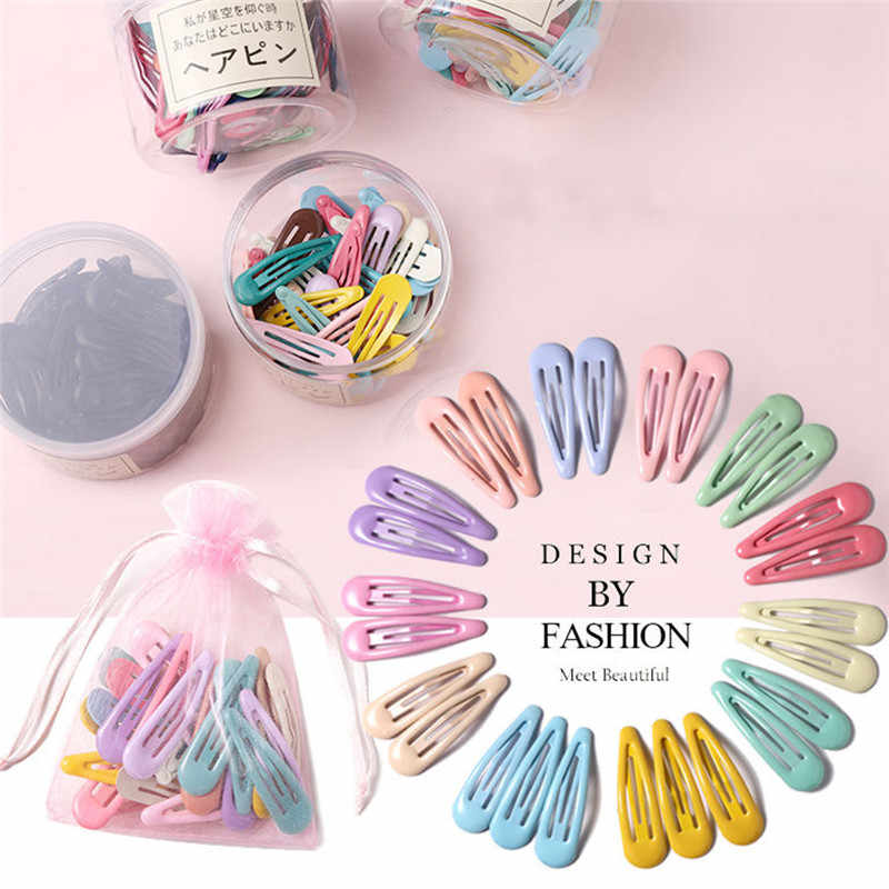 2Pcs//Pack Multi Shape Hairpins Snap Hair Clip for Kids Girl Barrettes BB Clips A