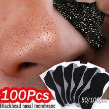 100pcs Nariz Máscara Removedor de Cravo Limpeza Profunda Da Pele Cuidados Tratamento Da Acne Diminuir os Poros Máscara Nariz Preto dots Poro Limpo tiras