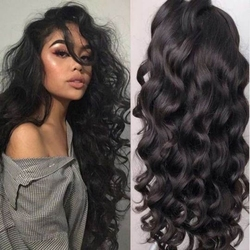 Loose Body Wave Lace Front Synthetic Wigs For Women Futura Hair Deep Part Water Wave Synthetic Wigs With Baby Hair