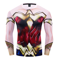 Dc super-herói maravilha mulher cosplay traje premium 3d impresso traje de compressão camiseta finess ginásio de secagem rápida topos apertados