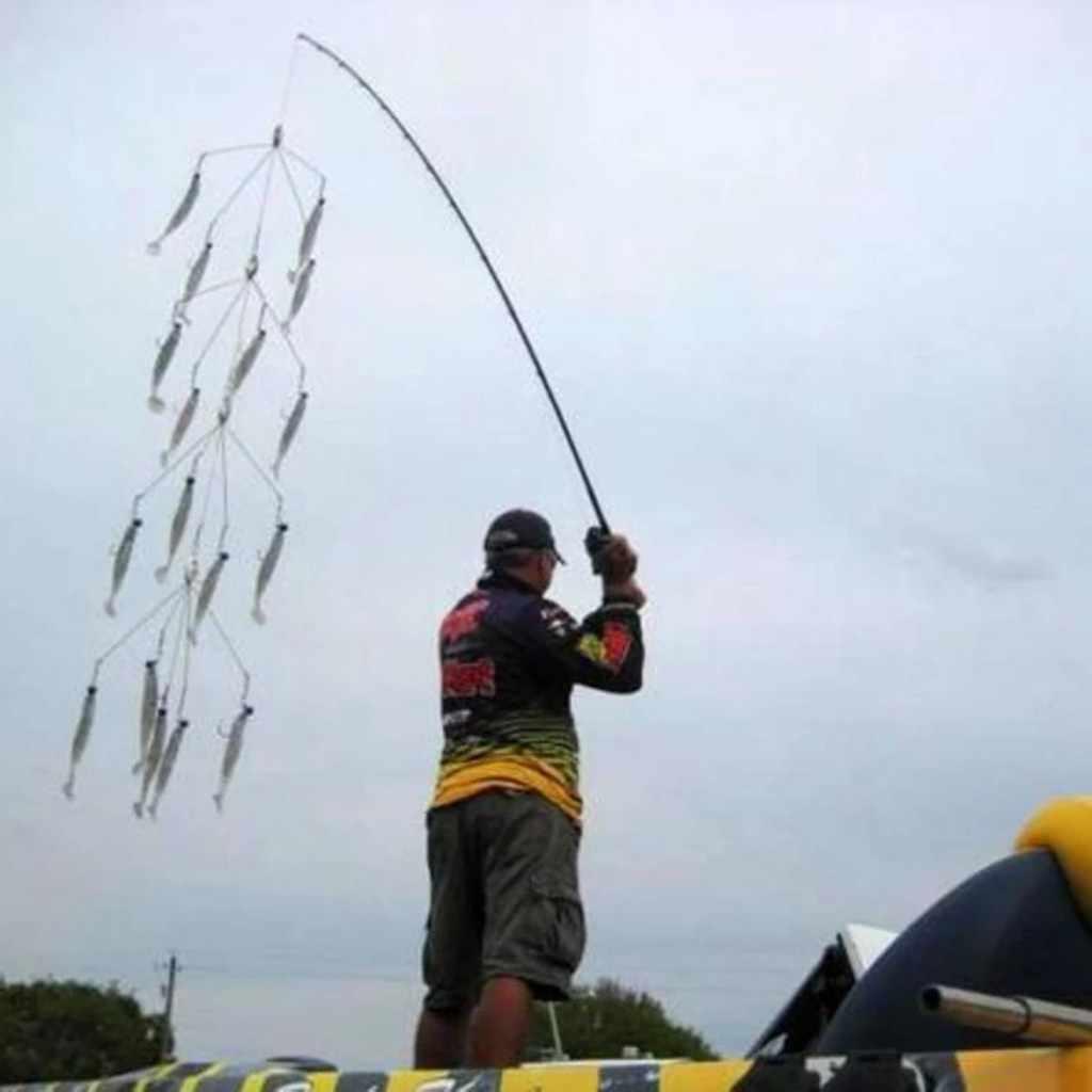 5 Armen Alabama Paraplu Hoofd Vissen Rig Aas Vissen Lokt Met Snap Wartels Visgerei