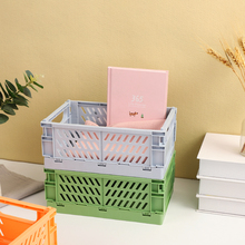 Storage-Basket Journal-Tape Desktop-Organizer Stationery-School Foldable Plastic JIANWU