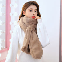 Женский зимний плотный плюшевый шарф из искусственного кроличьего