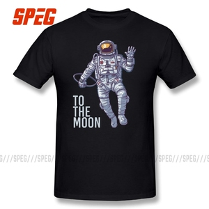 Bitcoin Astronaut to the Moon Cryptocurrency T-Shirt Funny Short Sleeve 100% Cotton T Shirt O Neck Design Adult Creative Tees(China)