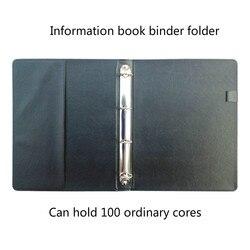 Pu Data Book 4 Hole Archives Logo Customized Multifunctional Business Loop Folder A4 Folder