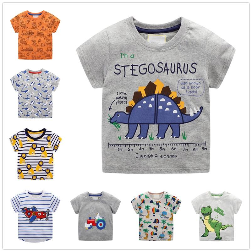 VIDMID children summer clothing baby boy T shirt cotton dinosaur short sleeve T-shirt kid boy casual sport T-shirt shirts W02 1