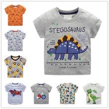 VIDMID children summer clothing baby boy T shirt cotton dinosaur short sleeve T-shirt