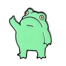 Cartoon Frog Prince Enamel Brooch Pins Badge Lapel Pins Brooches Alloy Metal Lightweight Jewelry Accessories