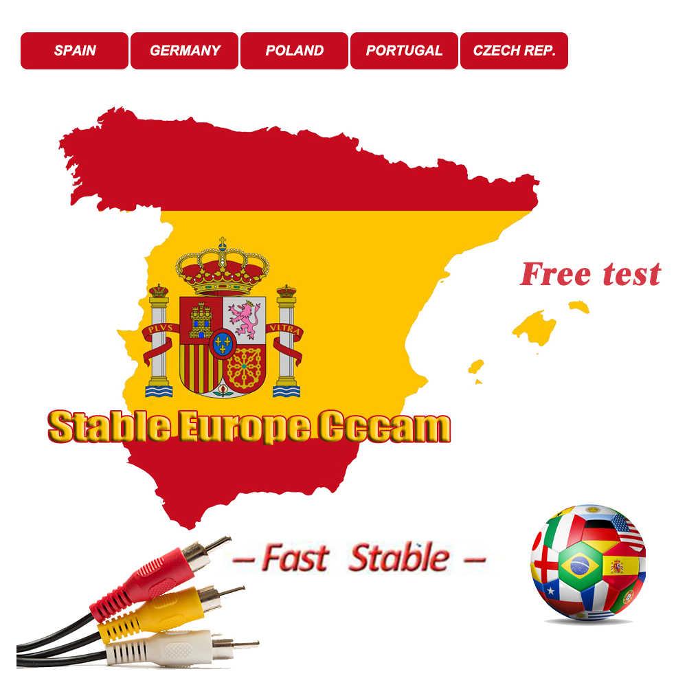 สเปน Server HD CCcam 3 Cline ยุโรป Cccam คงที่โปแลนด์โปรตุเกสเยอรมนี Cccam cline สำหรับ TV Receiver ควบคุมแผง