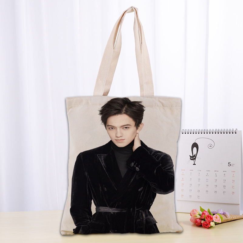 New Dimash Canvas Tote Bag Fashion Durable Women Student Cotton Linen Handbag Printed Shopping Bags Custom Logo