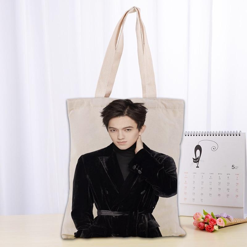 New Dimash Canvas Tote Bag Fashion Durable Women Student Cotton Linen Handbag Printed Shopping Bags Custom logo
