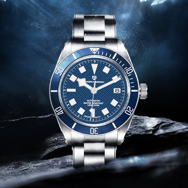 2021 New PAGANI DESIGN BB58 Men's Watches Mechanical Watch For Men Luxury Automatic Watch Men NH35 100M Waterproof Reloj Hombre 1