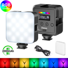 Ulanzi VL61 Mini RGB LED ไฟกล้องสำหรับถ่ายภาพ Vlog เติม Live 2000MAh 2500K 8500K Diffuser