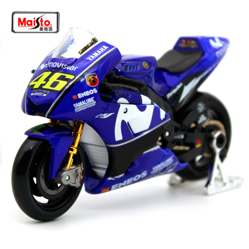 Maisto 1:18 YAMAHA 46# Valentino Rossi 25# Vinales Motorcycle Model 2018 Moto GP YZR M1 Diecast Moto Kids Toys Collection Gifts