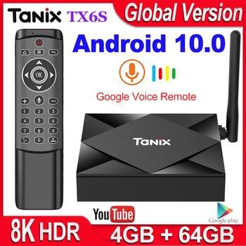 Tanix TX6S Smart TV Box Android 10 4GB RAM 32GB 64GB Allwinner H616 Quad Core Android 10.0 TV Box H.265 4K Media player 2GB 8GB