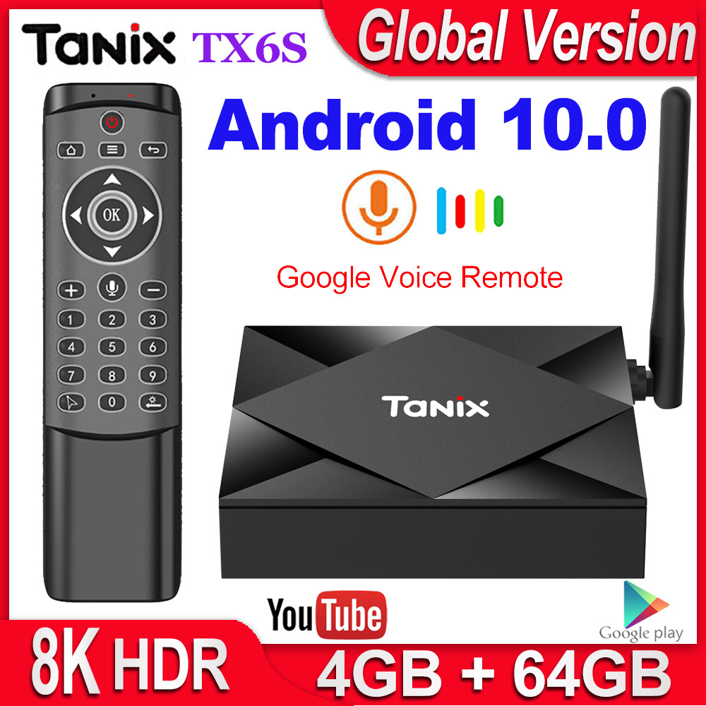 Tanix TX6S Smart TV Box Android 10 4GB RAM 32GB 64GB Allwinner H616 Quad Core Android 10 0 TV Box H 265 4K Media player 2GB 8GB