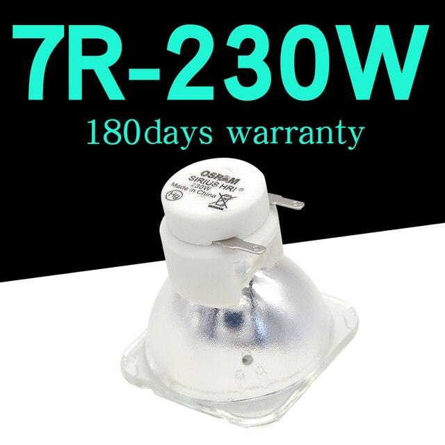حار مبيعات 7R 230 واط معدن هاليد مصباح تتحرك مصباح أشعة 230 شعاع 230 سيريوس HRI230W ل أوسرام صنع في الصين حار مبيعات 7R 230 واط المعادن