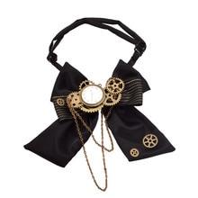 Black Steampunk Bow Tie vintage, victoriano Punk Gear cavat, hombre