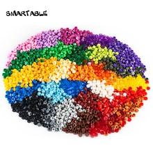 Smartable пластина 1x1 круглый 31 различных цветов строительные блоки детали игрушка для пикселя искусства Портрет свет совместимый 6141 950 шт./лот